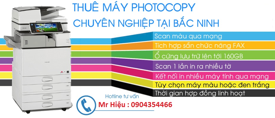 cho thuê máy photocopy màu tại Bắc Ninh